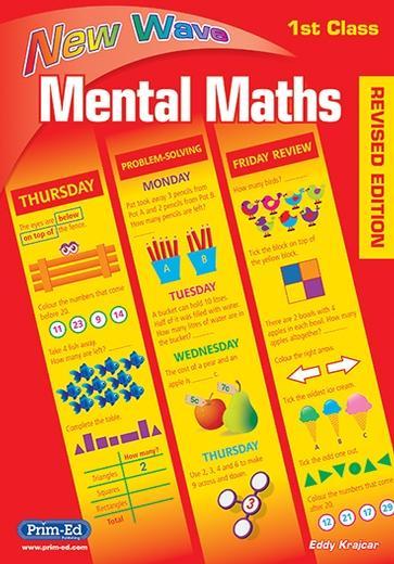 New Wave Mental Maths for 1st Class   Maths Books 1st Class